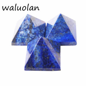 30mm-40mm 100% natural Lapis lazuli stone quartz crystal pyramid