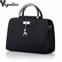 Load image into Gallery viewer, Fashion Handbag 2019 New Women Leather Bag Large Capacity Shoulder Bags Casual Tote Simple Top-handle Hand Bags Deer Decor
