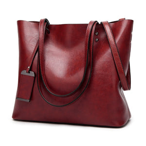 ALCEVR Soft Pu Leather Handbags Solid Color High-Capacity Shoulder Bags For Women Female Casual Totes Ladies Crossbody Bags