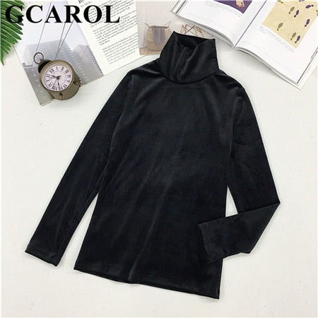 Fall Winter Women Turtleneck Sweater Stretch High Quality Smooth Thick Pullover Basic Warm OL Tops