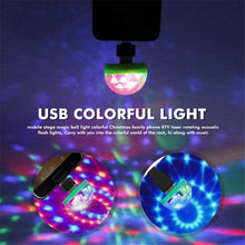 Load image into Gallery viewer, Portable Mini USB Disco DJ Party LED Lights RGBW Crystal Magic Ball Effect Stage Lamp Voice Music Control