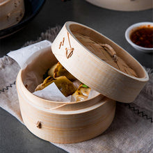 Load image into Gallery viewer, Bamboo Steamer With Cover Fish Rice Vegetable Snack Steaming Basket