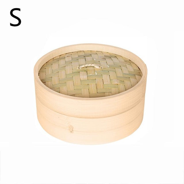 Bamboo Steamer With Cover Fish Rice Vegetable Snack Steaming Basket