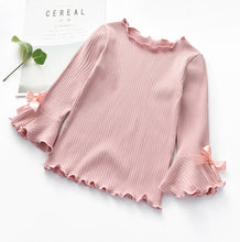 Load image into Gallery viewer, Fall Winter Girls Shirts Kids White Pink Long Sleeve Lace Tops t shirt Toddler