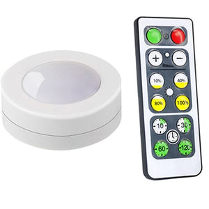 Wireless Dimmable Touch Sensor LED Under Kitchen Cabinets lights LED Puck Lights