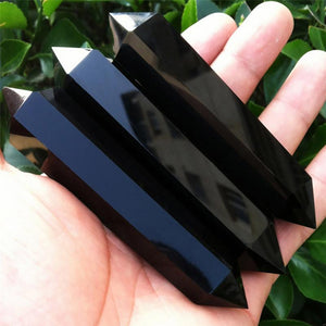 100% Natural Obsidian Crystal Column  Double-ended Quartz Stone
