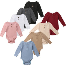 Load image into Gallery viewer, 8Color ! 0-24 M Toddler Baby Girls Clothes Basic Pure Color Outfit Long Sleeve Cotton Romper