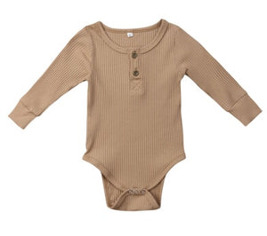 8Color ! 0-24 M Toddler Baby Girls Clothes Basic Pure Color Outfit Long Sleeve Cotton Romper