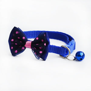 Adjustable Pet Supplies Multicolor Wave Point Cats Dog Tie Wedding Accessories Dogs Bowtie Collar