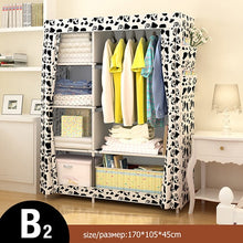 Load image into Gallery viewer, Bedroom Multipurpose Non-woven Cloth Wardrobe Folding Portable Clothing Storage Cabinet Dustproof Cloth Closet Home Furniture