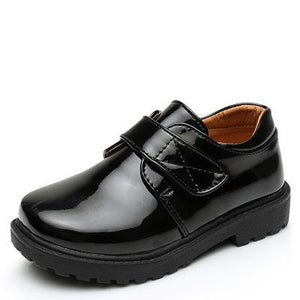 New Boys Leather Shoes British Style School Performance  Kids Wedding Party Shoes White Black Casual Children Moccasins Shoes