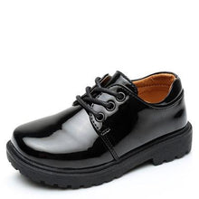 Load image into Gallery viewer, New Boys Leather Shoes British Style School Performance  Kids Wedding Party Shoes White Black Casual Children Moccasins Shoes