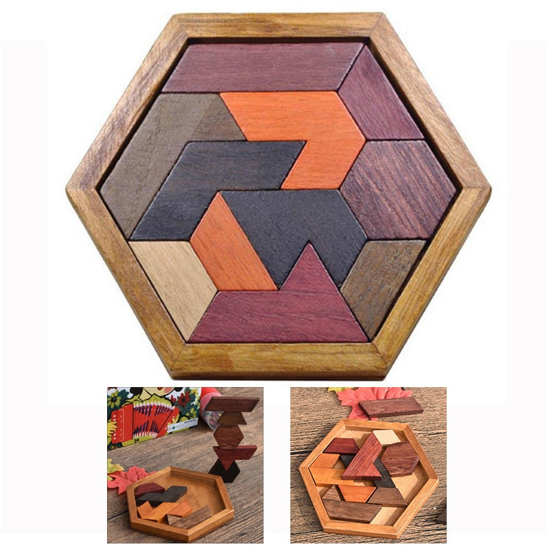 Wooden Puzzles Toys Jigsaw Board Geometric Shape Child Educational Toy Brain Teaser