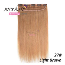 "Load image into Gallery viewer, MRS HAIR Clip In Human Hair Extensions Straight 14"" 18"" 22"" Natural Hair On Hairpins 9 Colors Available Blonde Hair"