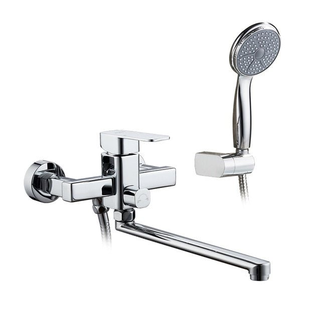 Shower Faucet Set Bathroom Brass Bathtub Tap Chrome Plated Shower Head