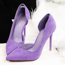Load image into Gallery viewer, Faux Suede Women Pumps High Heels Women Shoes