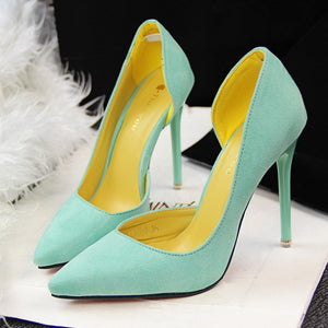 Faux Suede Women Pumps High Heels Women Shoes