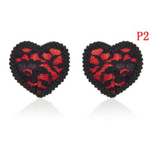 Load image into Gallery viewer, 1 Pair Women Sexy Sequin Nipple Covers With Tassels Heart Shape Nipple Stickers Pasties  Sex Product Chest Stickers Wholesale