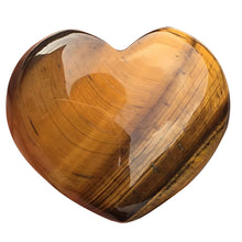 Load image into Gallery viewer, Natural Stone Rose Quartz Heart Shaped Striped Agate Crystal Carved Palm Love Gemstones