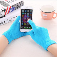 Load image into Gallery viewer, Winter Touch Screen Gloves Women Men Warm Stretch Knit Mittens Imitation Wool Full Finger