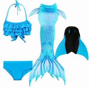 NEW Arrival!Fancy Mermaid tails with/No Fins Monofin Flipper mermaid swimming tails for Kids Girls Summer Beach Wear Swimsuits