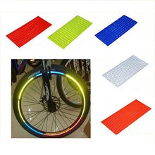 Load image into Gallery viewer, Bicycle reflector Fluorescent MTB Bike  Cycling Wheel Rim Reflective Stickers Decal Accessories