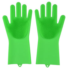 Load image into Gallery viewer, Kitchen Silicone Cleaning Gloves Magic Silicone Dish Washing Gloves