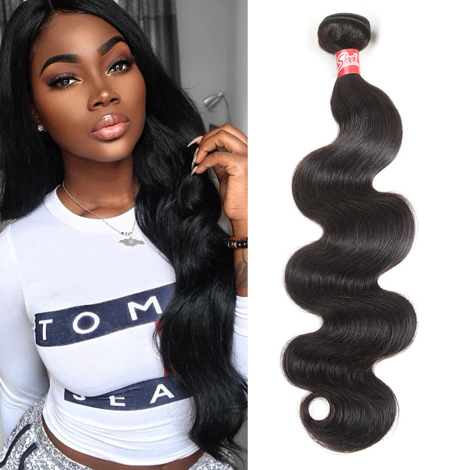 Sleek Brazilian Hair Weave Bundles 8 to 28 30 Inch Brazilian Body Wave Remy Human Hair Extension 1/3/4 Bundle Deals Free Ship