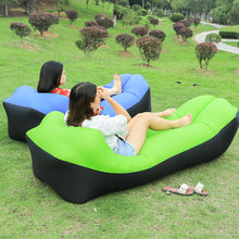 Load image into Gallery viewer, Fast Folding Garden Sofas Waterproof Inflatable bag lazy sofa camping Sleeping bags air bed Adult Beach Lounge Chair