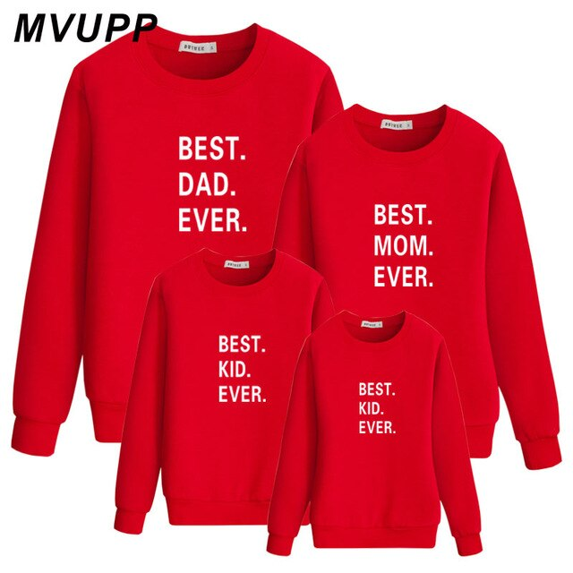 Fall family matching clothes Long sleeve sweatshirt