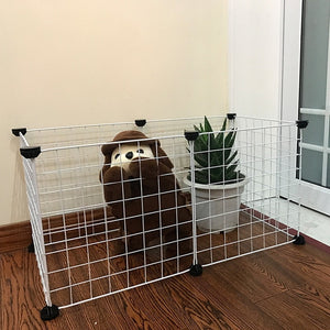 Pet Playpen Crate  Iron Fence Puppy Kennel House Training Puppy Kitten