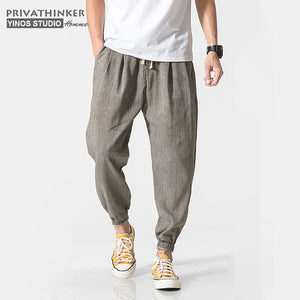 Privathinker Brand Casual Harem Men Jogger Pants  Chinese Traditional Harajuku