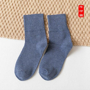 eTya Women Fashion Short Sock Japanese Solid Color School Students Female Women Cotton Casual Socks Sox For Autumn Winter