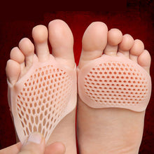 Load image into Gallery viewer, USHINE Silicone Gel Forefoot Pads Breathable Soft Protector Elastic Pain Relief Insole 1 pair