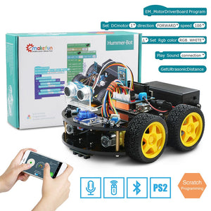 Robot 4WD Cars APP RC Remote Control Bluetooth Robotics Learning Kit