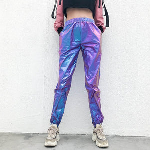 women rave pants pole dance shorts holographic bodysuit neon outfit dance crop top women jazz dance street dance clothing