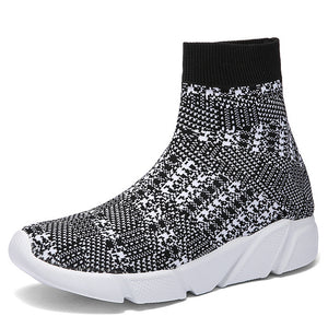 Women vulcanized  Sneakers Sock High Top Trainers Breathable