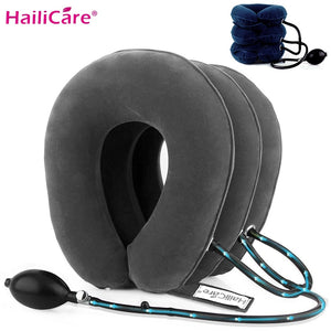3 Layer Inflatable Air Cervical Neck Traction Device Soft Neck Collar Pillow for Pain Stress Relief Neck Stretcher US Stock