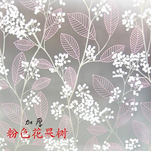 Decorative window film self adhestive film vinyl stained glass window stickers for Christmas 60x200cm