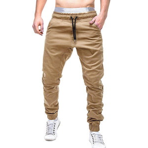 Men Sweatpants Slacks Casual Elastic Joggings Sport Solid Baggy Pockets Trousers 4.12