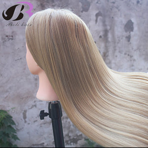"26"" Training Head for Hairdressers Mannequin Head Blond Hair Hairdressing"