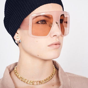 2019 Brand Oversize Women Exaggerated Large Frame Fashion Female Shades