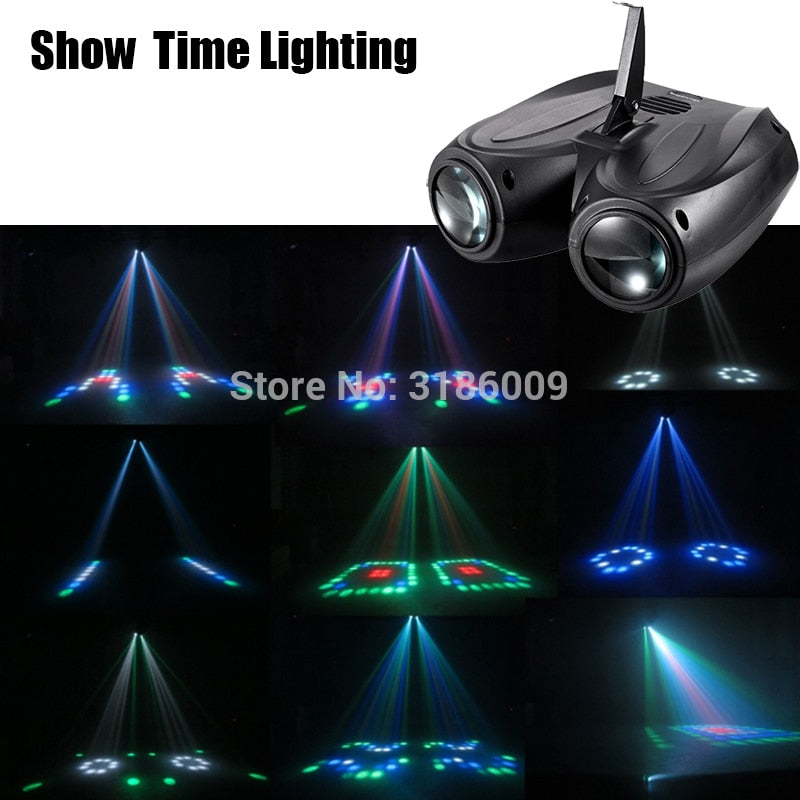 SHOW TIME LED double head airship Moon flower light Home entertainment DJ party Disco light Sound work Carton Building block