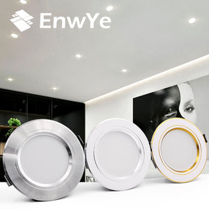 EnwYe LED Downlight Ceiling Warm white/Cold white 5W 9W 12W 15W 18W led Ceiling lamp AC 220V 230V 240V New type Downlight