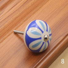 Load image into Gallery viewer, Furniture Hardware 40mm Furniture Handle Ceramic Drawer Cabinet Knobs and Handles Knobs Door Cupboard Kitchen Pull Handles