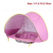 Load image into Gallery viewer, Baby Beach Tent Children Waterproof Pop Up sun Awning Tent UV-protecting Sunshelter with Pool Kid Outdoor Camping Sunshade Beach