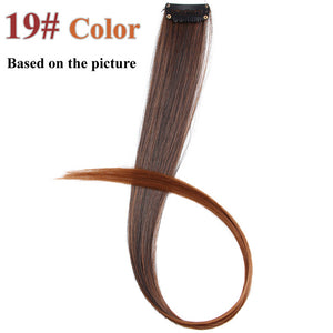 57 Colors 50CM Single Clip In One Piece Hair Extensions