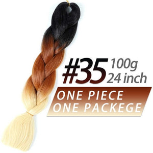 Pageup 24 Inches 105 Colored Synthetic Hair African Afro Jumbo Hair Braids Blue Pre Stretched Ombre Braiding Hair Extensions