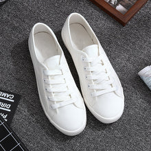 Load image into Gallery viewer, Classic White Sneakers Women Casual Canvas Shoes Female Summer Lace-Up Flat Trainers Fashion Zapatillas Mujer Vulcanize Shoes