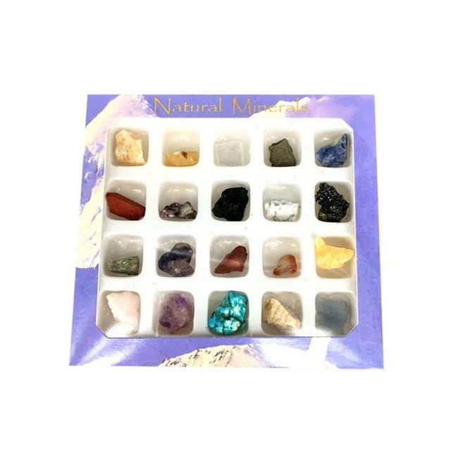 20pcs Irregular Tumbled Mini Ores Stone Collection